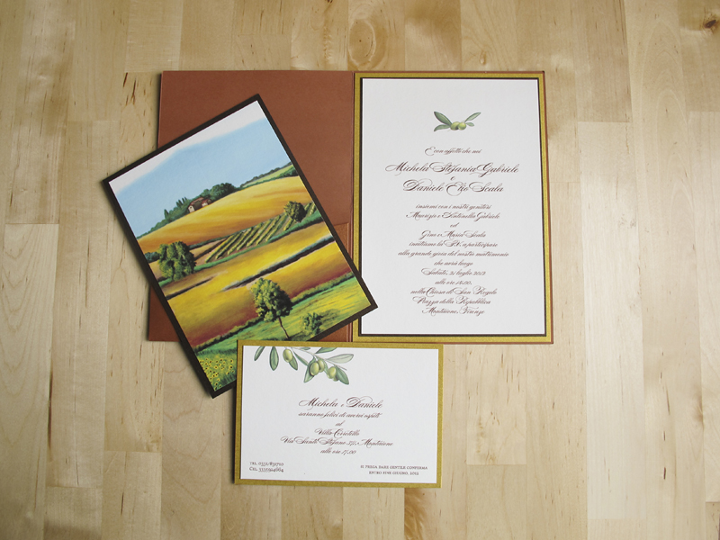 Tuscan Themed Wedding Invitations: From The Studio: Artwork-Inspired Tuscan Destination