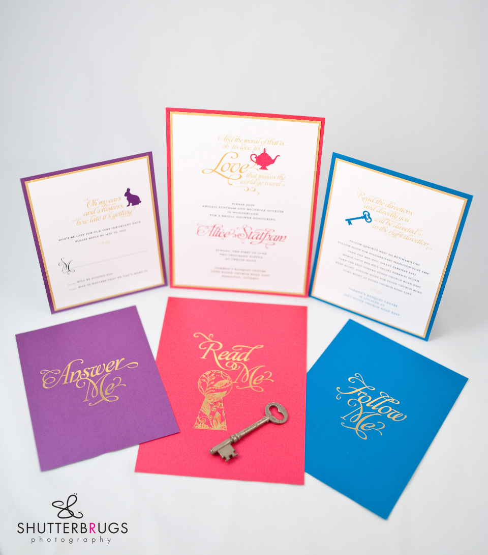Free Alice In Wonderland Bridal Shower Invitations