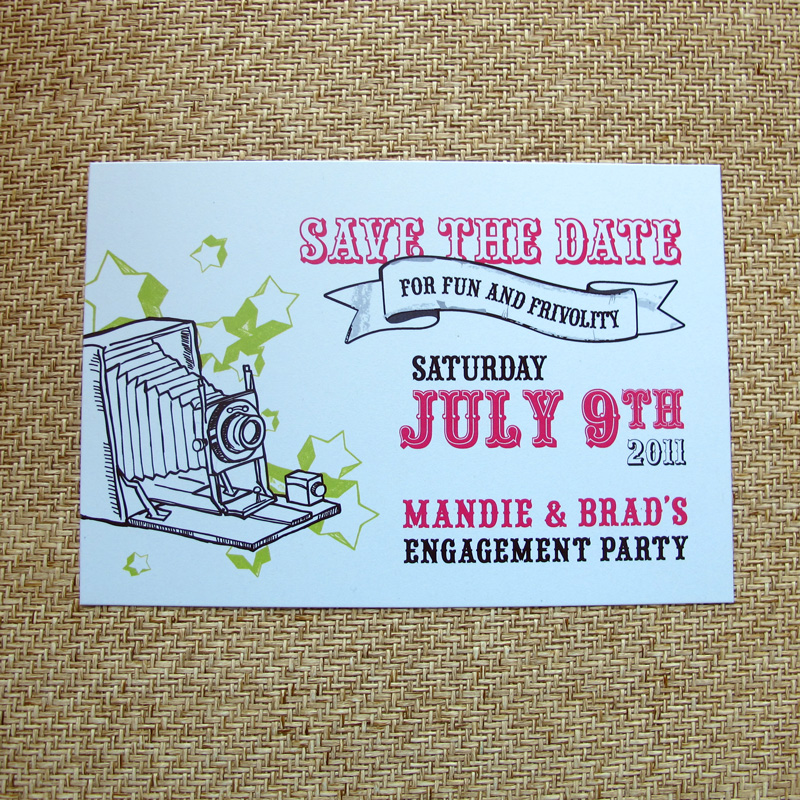 From The Studio: Carnival-Inspired Engagement Party Invitations ...