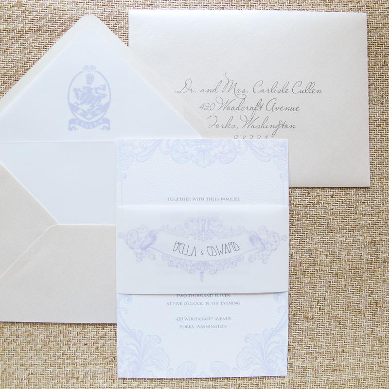 From The Studio Edward Bella S Twilight Breaking Dawn Wedding Invitation Hip Ink Style The Invitation Blog Hip Ink