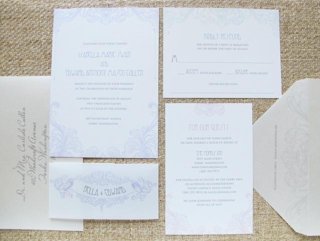 Re Post Edward Bella S Twilight Breaking Dawn Wedding Invitation Hip Ink Style The Invitation Blog Hip Ink
