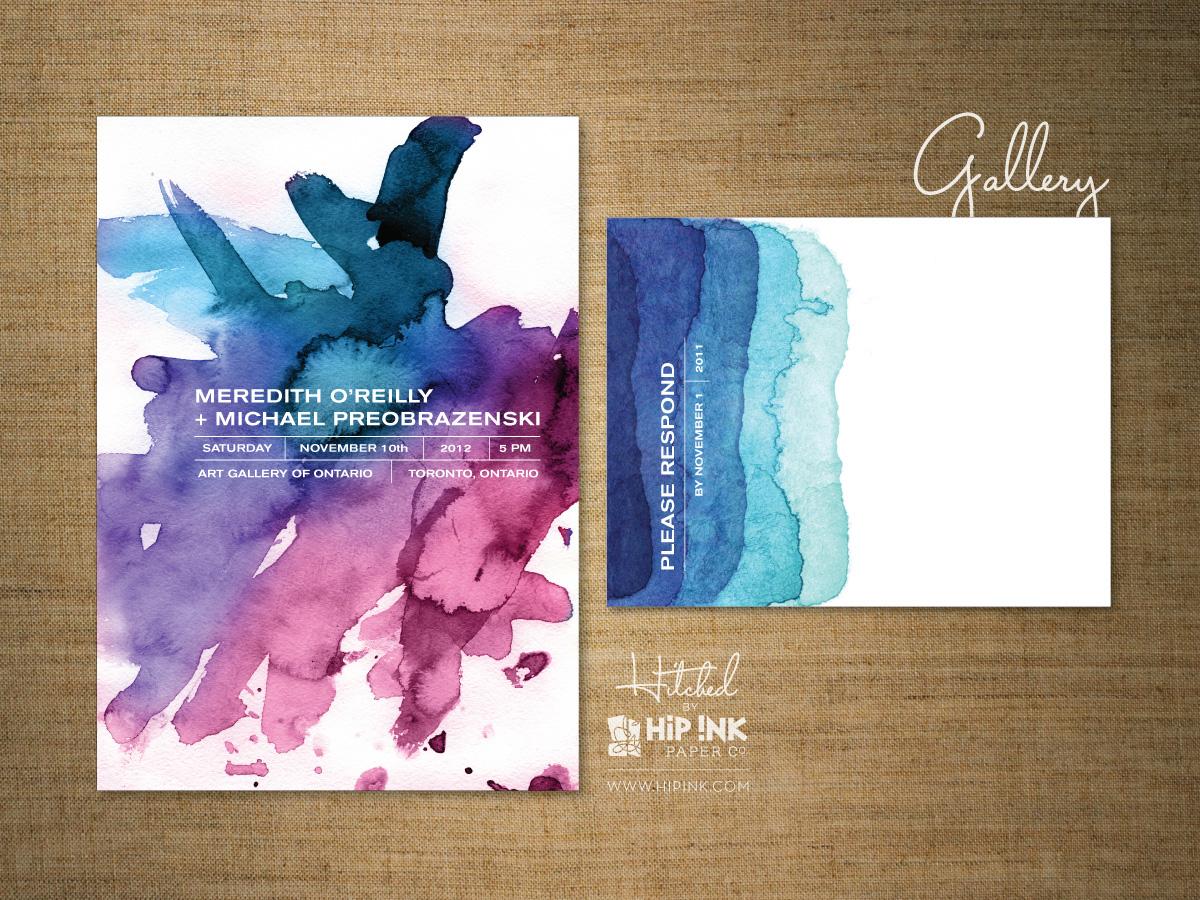Invitation card gallery purplemoon hitchedhip ink the invitation blog hip ink invitation samples stopboris Images